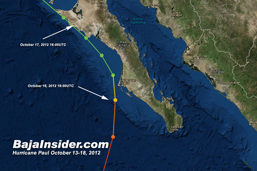 Hurricane Paul is a dubious contender for the latest season named storm on October 17, 2012