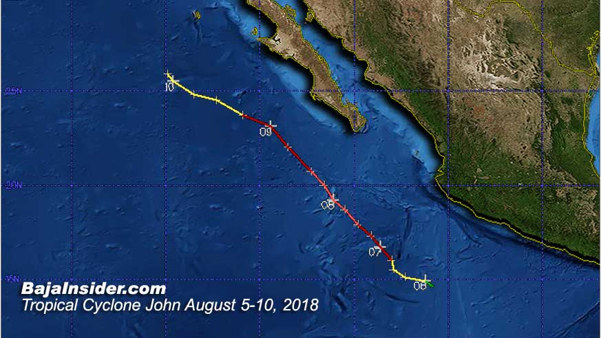 Hurricane John gave the peninsula a scare in the second week of August