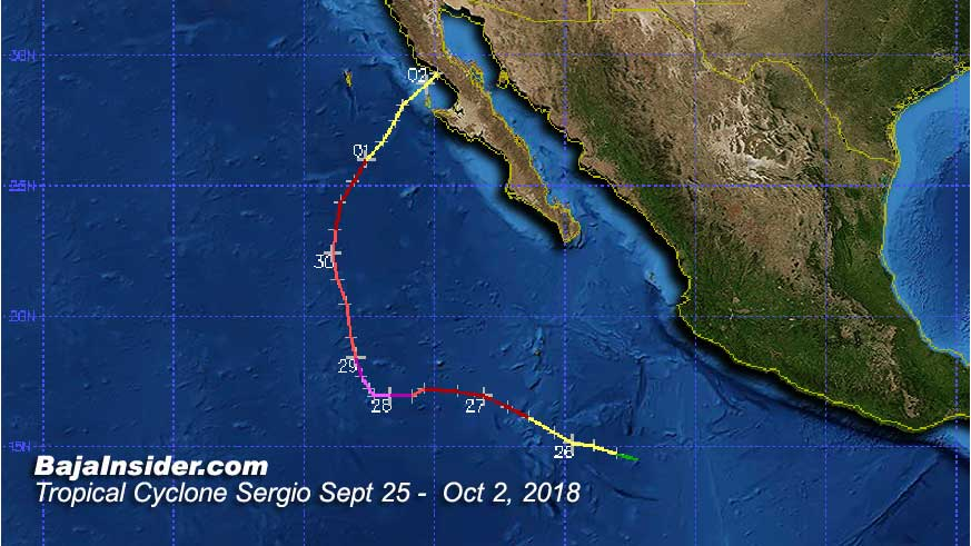 Tropical Cyclone Rosa became the first named storm in 21 years to make landfall in Baja California