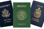 Mexican American Canadian Passports