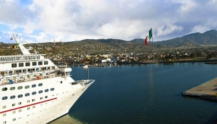 Cruise ship in Ensenada, Baja California