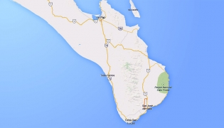 Map of the Baja California Sur Loop, Baja California Sur, Mexico
