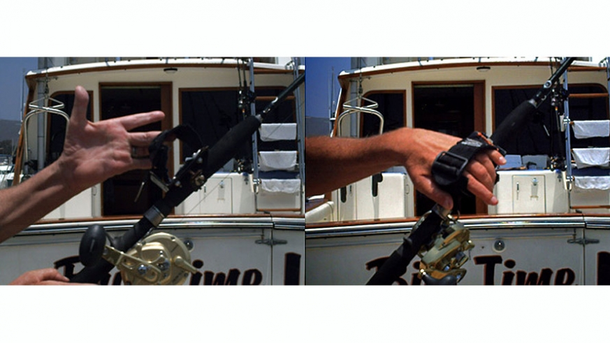 Special rod and harness provide the additional support needed for the angler to battle the big fish regardless of their handicap.