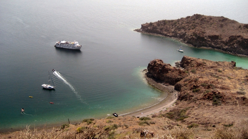 AdventureSmith Explorations cruise at anchor in the Sea of Cortez