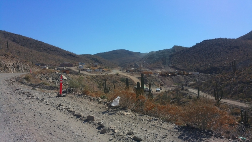 Excavation of Lower Mex 5 highway