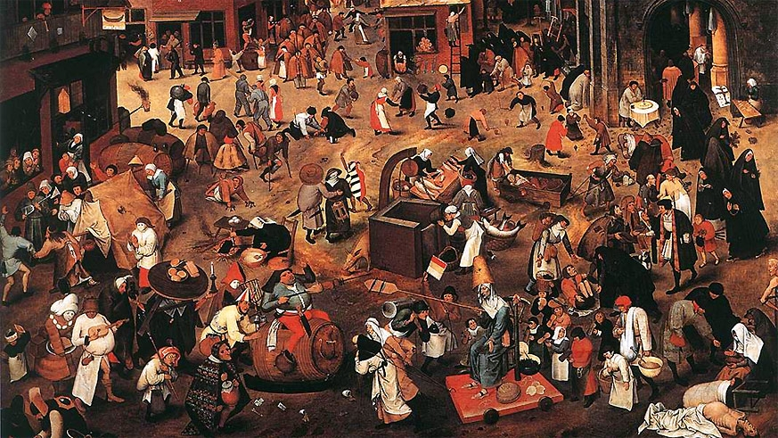 Peter Brueghel, The Fight Between Carnival and Lent, 1559