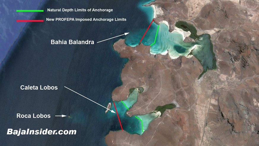 Natural and Imposed Anchorage Restrictions Near La Paz