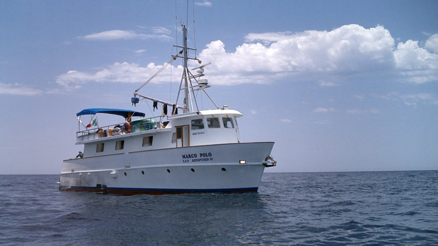 The Marco Polo available for crewed charter for up to 12 persons