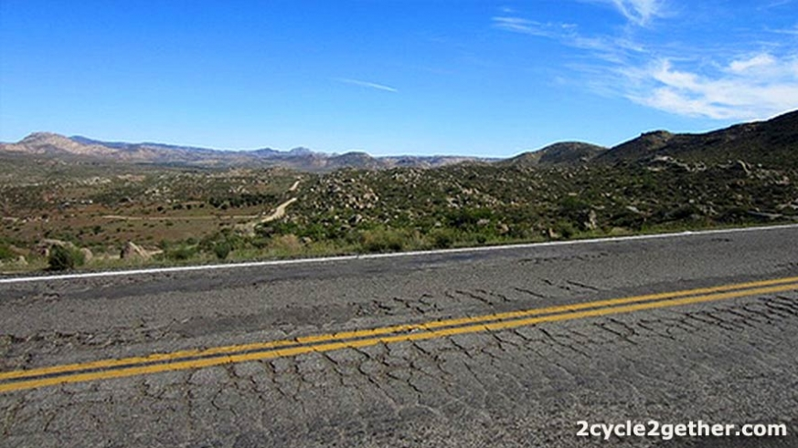 Narrow and deteriorating highway – found between Tecate and Ensenada