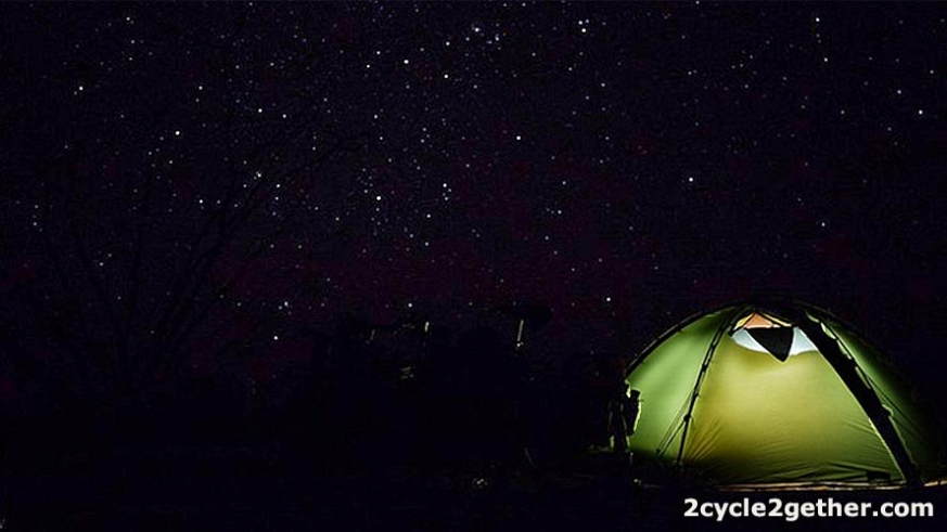 We camped under the stars more than a dozen times while cycling down Baja