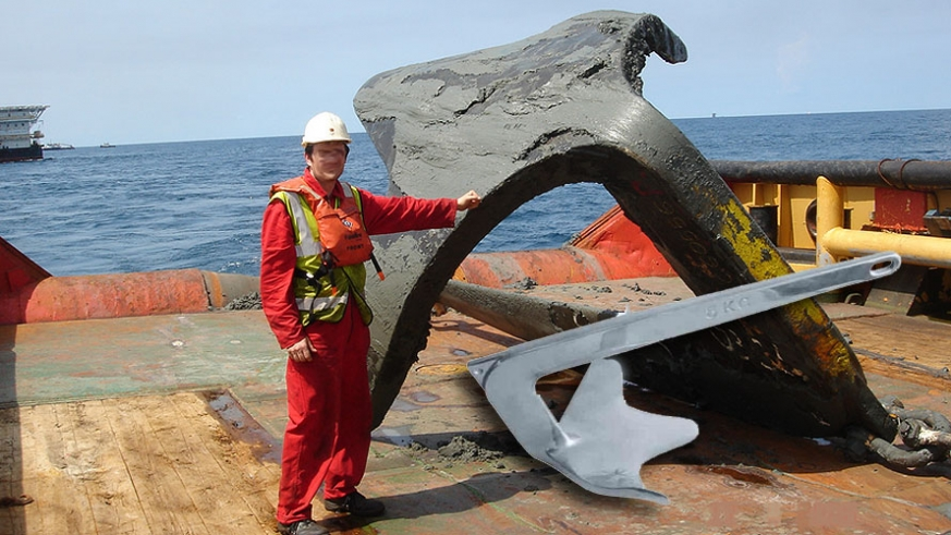 Although your not likely to use one this large, the Bruce anchor is the favorite among long time cruiser, but there are some modern permutations