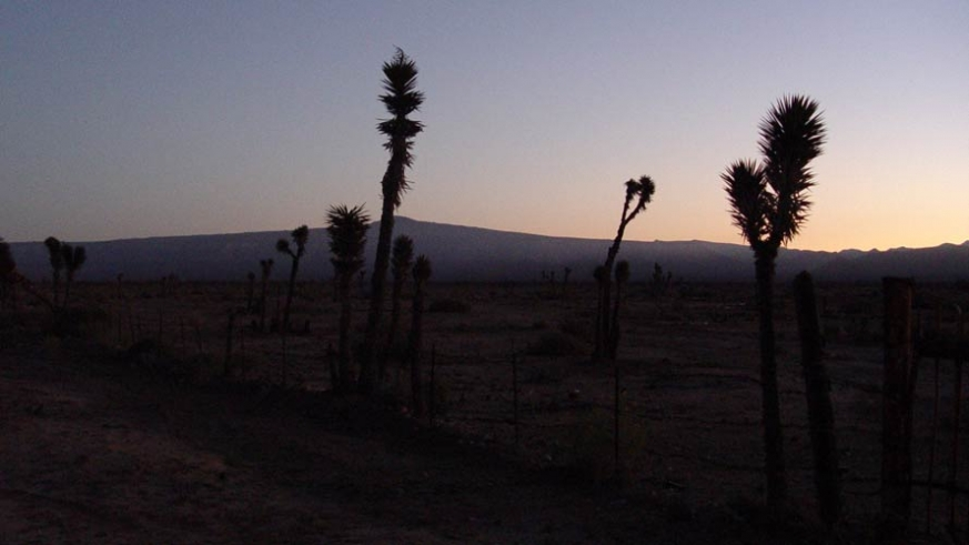Sunrise over the central deserts, north of Guerrero Negro