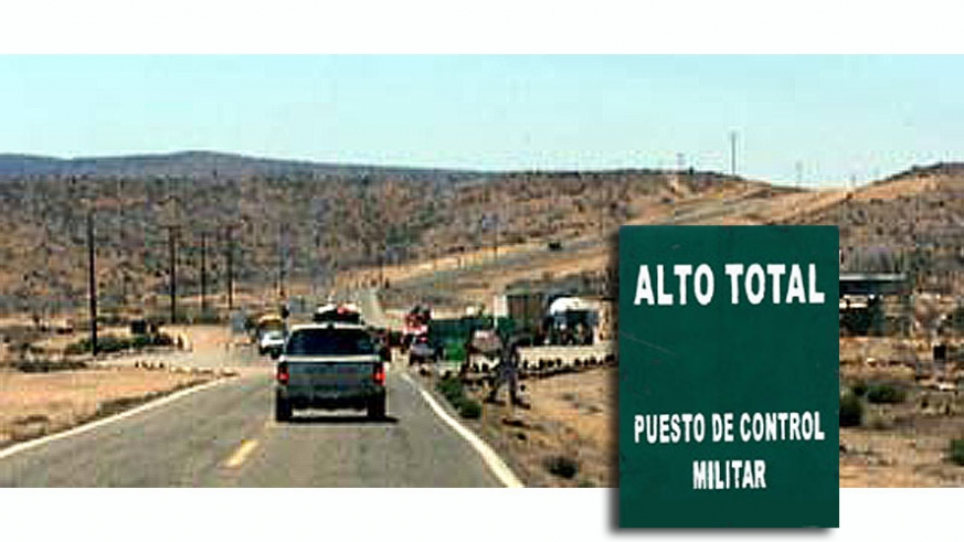 Military checkpoints along Baja's Highway 1 occur at several permanent and temporary locations