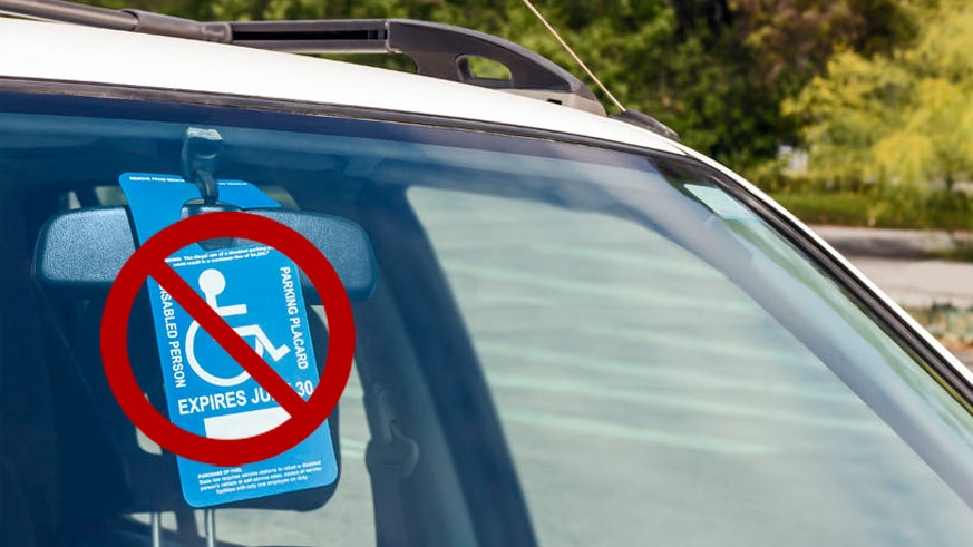 Only Mexican issued handicapped placards permit the usage of the specially allocated spaces