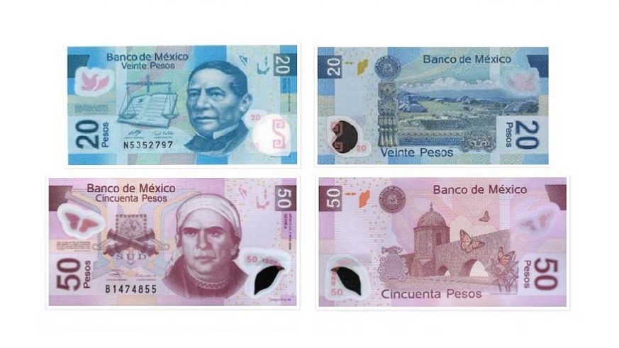 The 20 And 50 Mexican Peso Notes