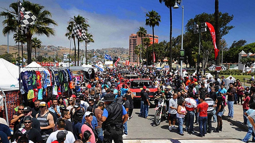 The starting line of the Baja 1000 Off Road Race in Ensenada