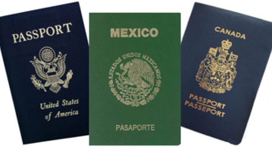 U.S. Mexico Canadian passports