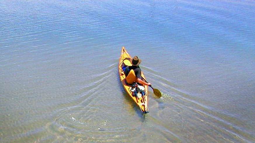 Kayaking the tranquil blue green waters of the Sea of Cortez