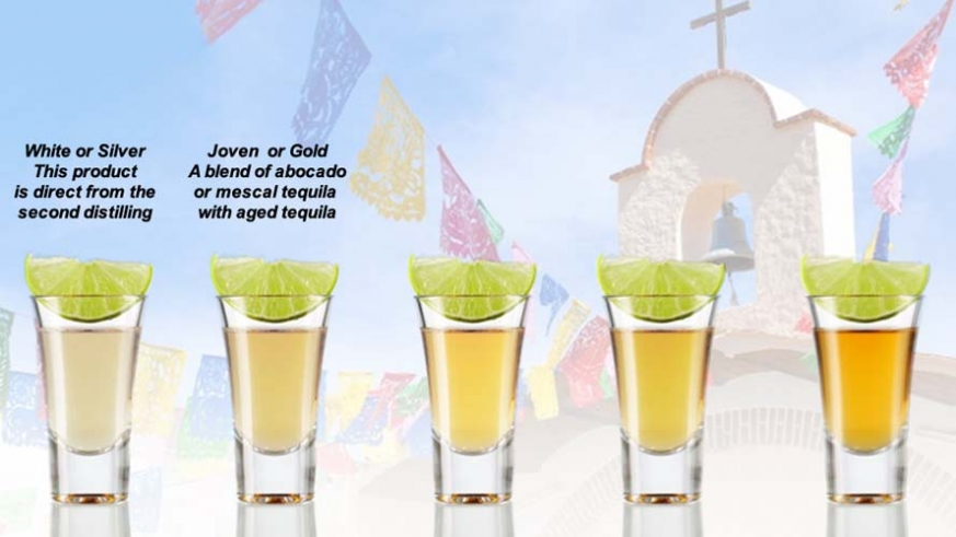 Various grades of Tequila – Joven or Gold Tequila