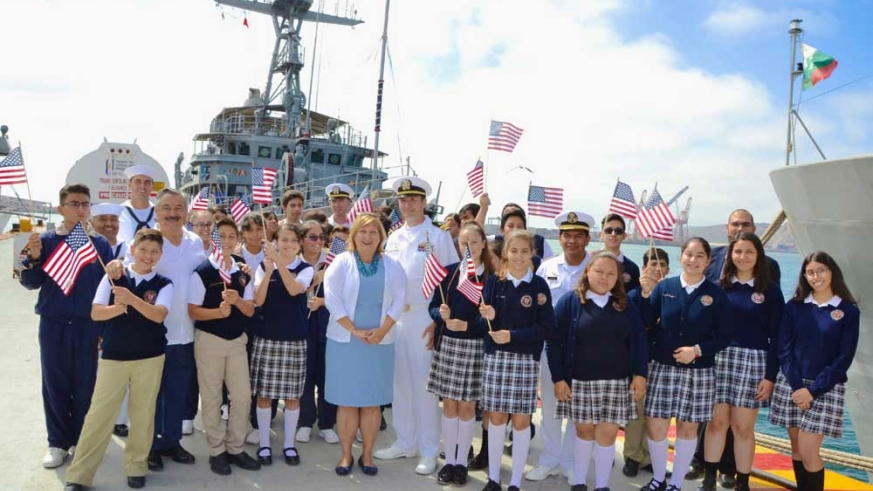 Us Consular General Kicks off USS Scout visit to Baja with Mexican School children