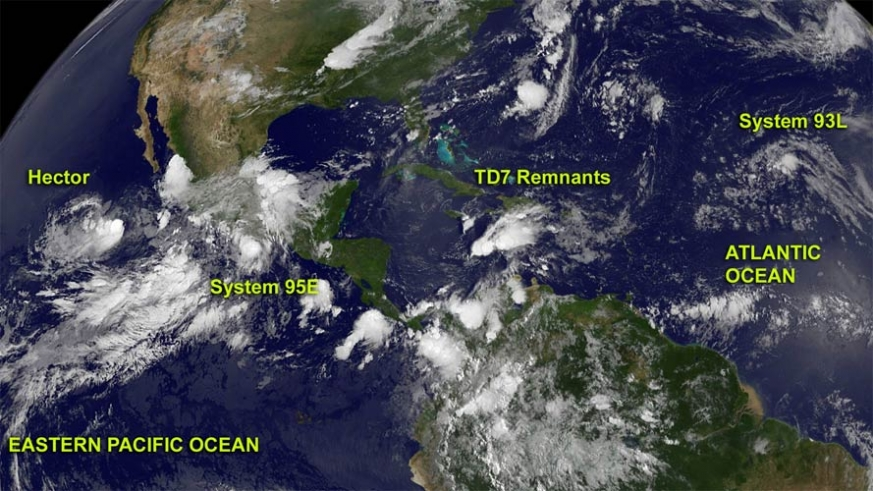 It is rare for a tropical cyclone to make it across the Mexican mainland, but if it does it's rewarded with a new name.