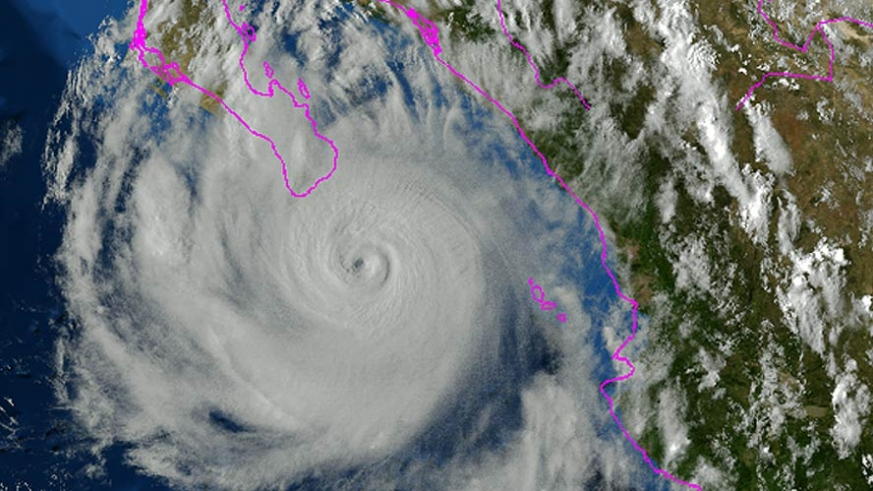 Hurricane Odile Sept 14, 2014 approaching Cabo San Lucas